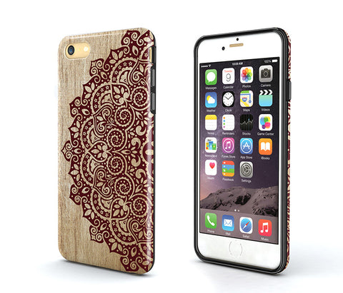 wood mandala iPhone 6s Plus Case,Tough iPhone 5s Case,wood iPhone SE Case