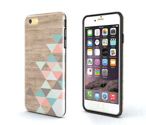 Tough iPhone 6S Plus Case,wood geometric iPhone 6S Case,iPhone 6 Case,iPhone 5S Case