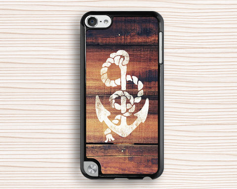 old wood  ipod case,anchor ipod touch 4 case,wood ipod touch 5 case,wood anchor ipod 4 case,art anchor ipod 5 case,art anchor touch 4 case,personalized touch 5 case