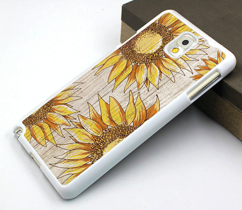 sunflower samsung note 2,wood grain flower samsung note 3 case,vivid flower samsung note 4 case,gift galaxy s3 case,best galaxy s3 cover,sunflower galaxy s4 case,classical flower galaxy s5 case