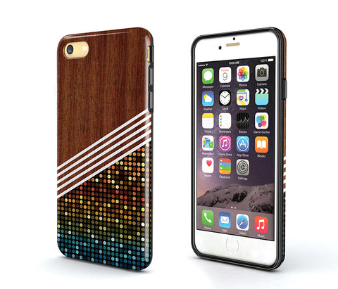 wood small check geometrical iPhone 6S Case,iPhone 6s Plus Case,Tough iPhone 6s Case,iPhone 5S Case