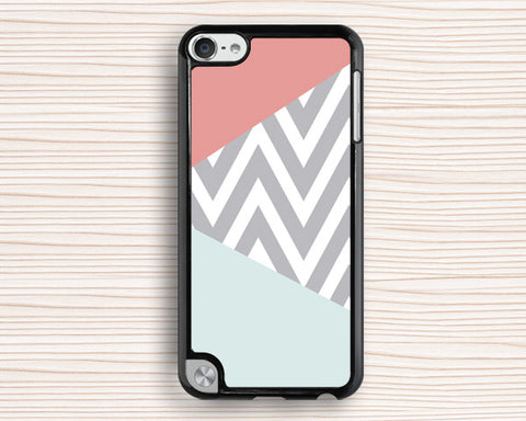 pink blue chevron ipod case,art design ipod 4 case,chevron ipod 5 case,art chevron ipod touch 4 case,personalized ipod touch 5 cover