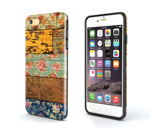 Tough iPhone 6S Plus Case,wood flower iPhone 6S Case,iPhone 6 Case,iPhone 5S Case