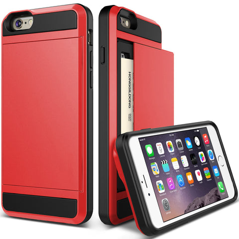 Unique IPhone 6 case,iPhone 6 Plus Case,Champagne,Card Slot,Drop Protection,Heavy Duty,Wallet,Damda Slide
