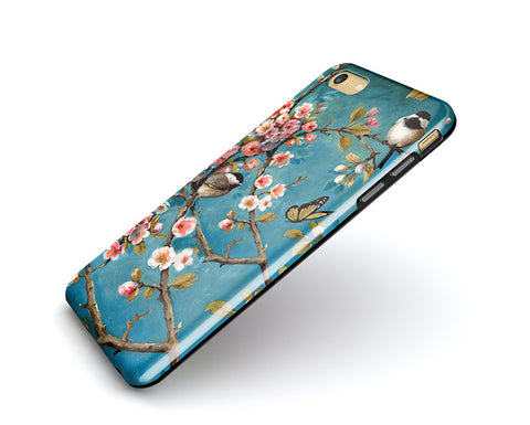Tough iPhone 6S Plus Case,bird blossom iPhone 6S Case,iPhone 6 Case,iPhone 5S Case