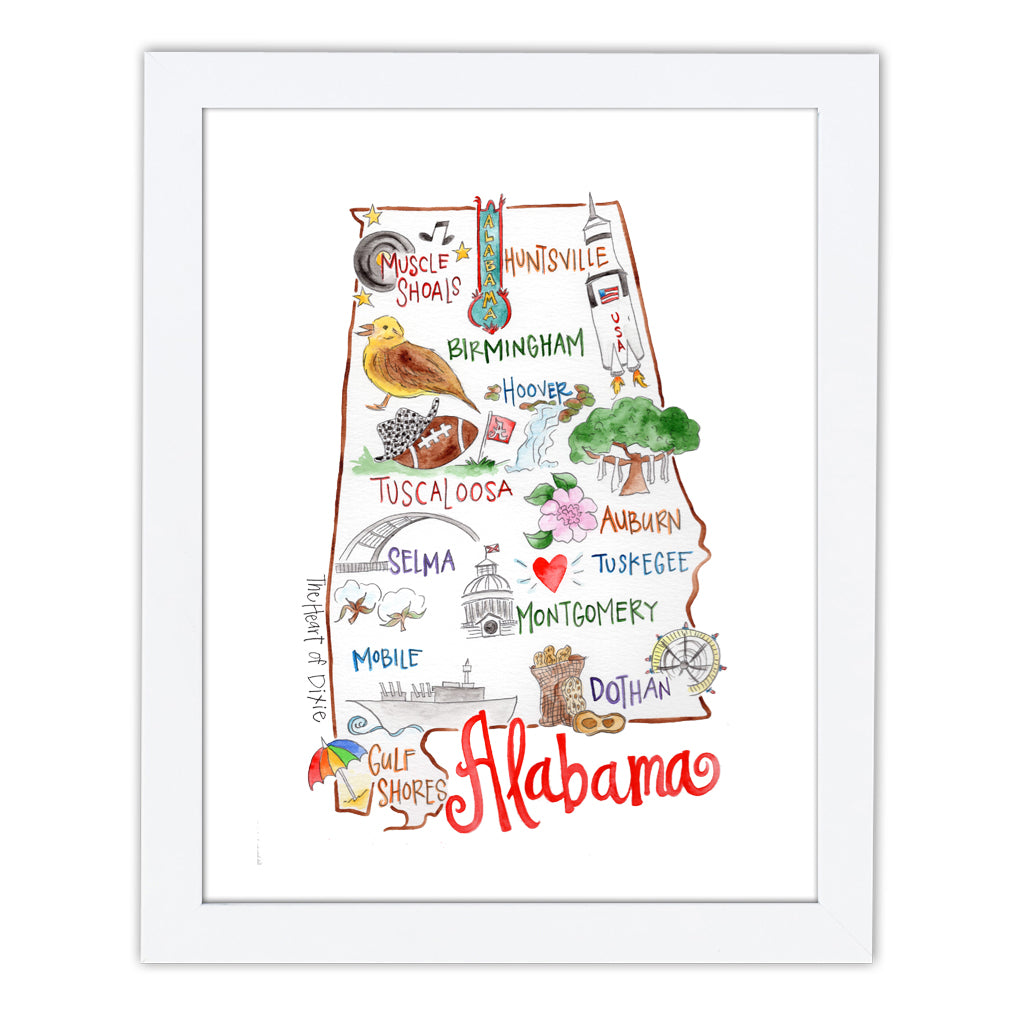 Alabama Art Print