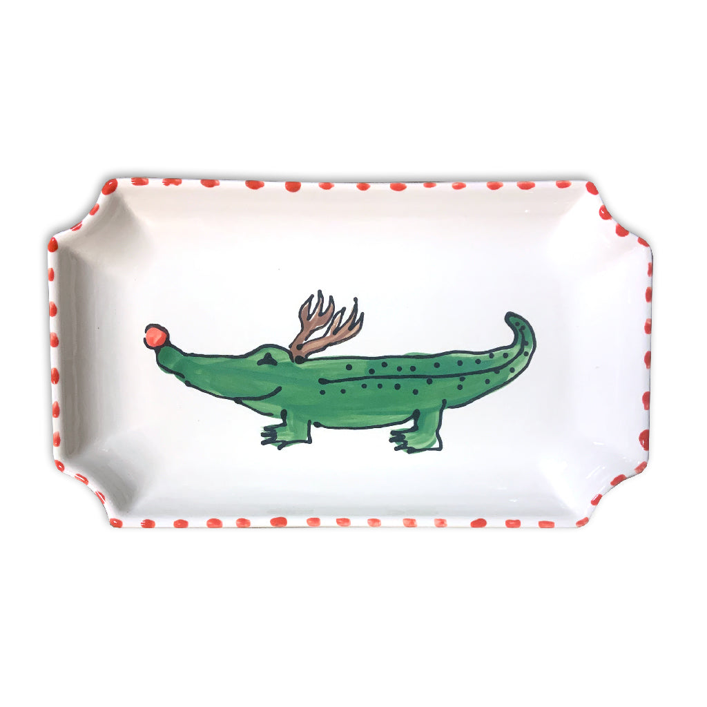 Reindeer Alligator Orleans Tray