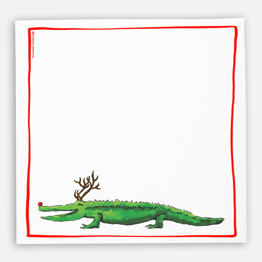 Alligator Reindeer Kitchen Towel