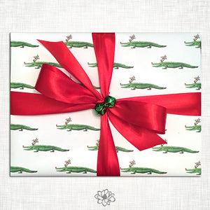 Alligator Reindeer Gift Wrap