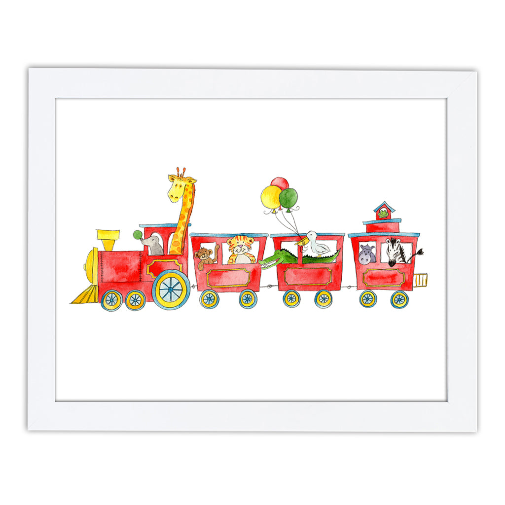 Animal Train Art Print