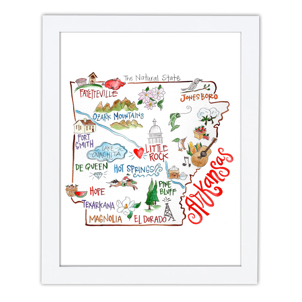 Arkansas Art Print