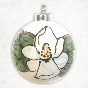 Magnolia Ball Ornament