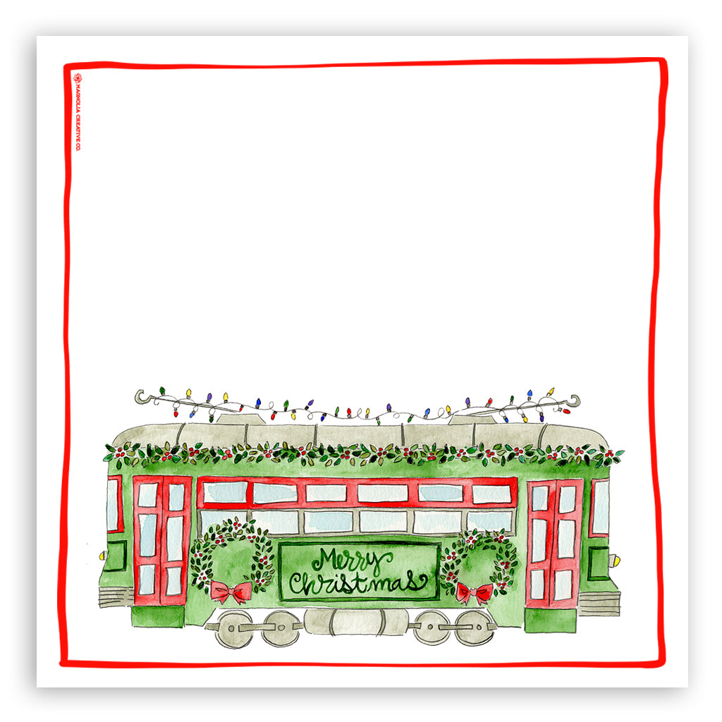 Christmas Trolley Kitchen Towel