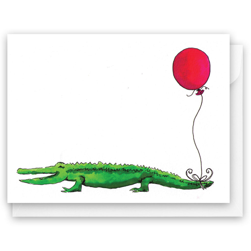 Alligator Balloon Card