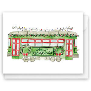 Christmas Trolley Card