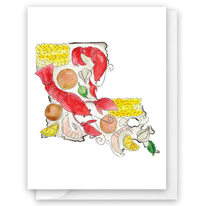 Louisiana Crawfish Card