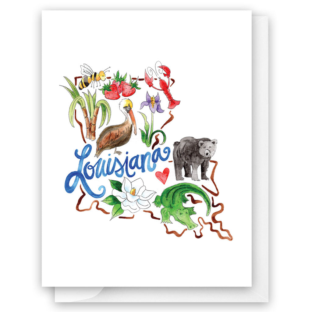 Louisiana Favorites Card