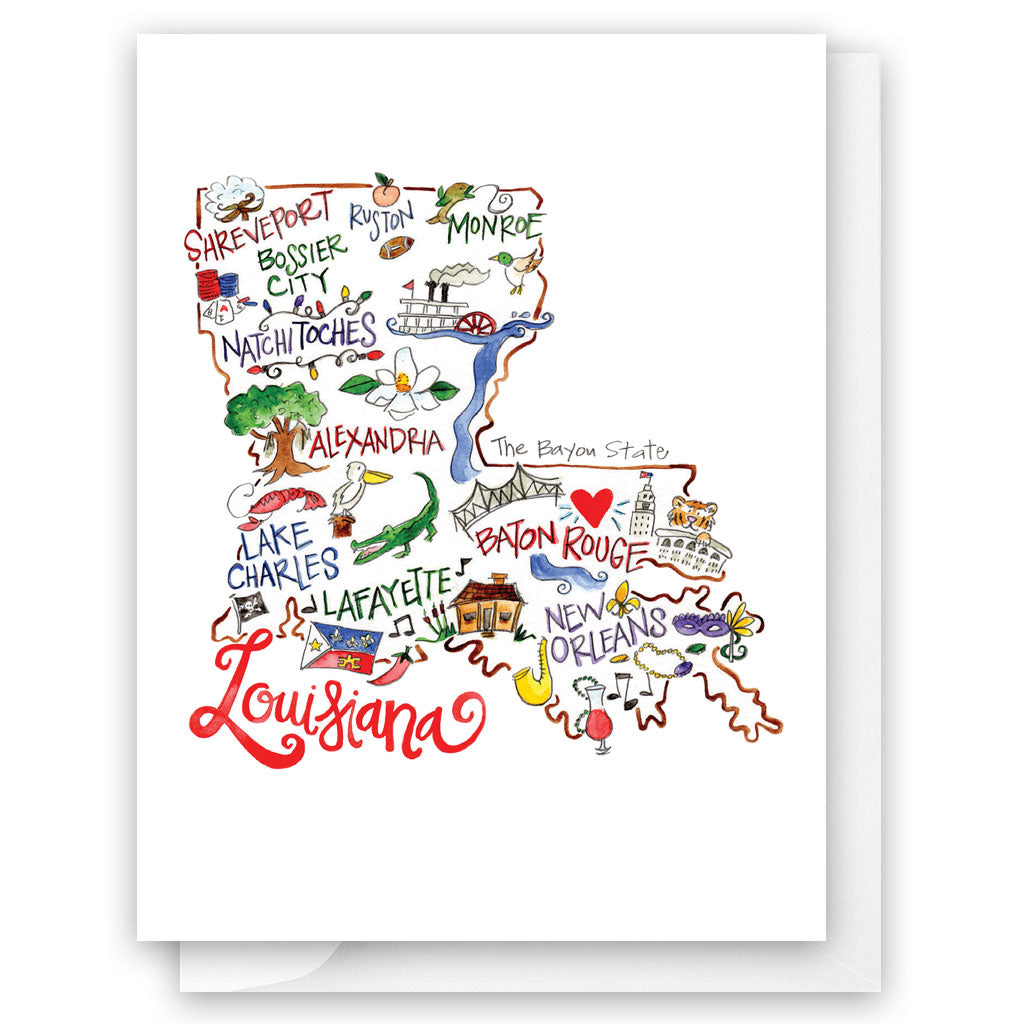 Louisiana Card