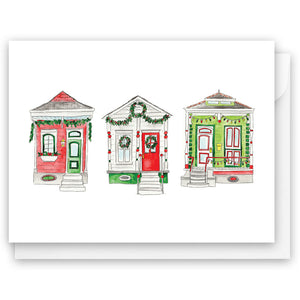 Christmas Shotgun Houses Card