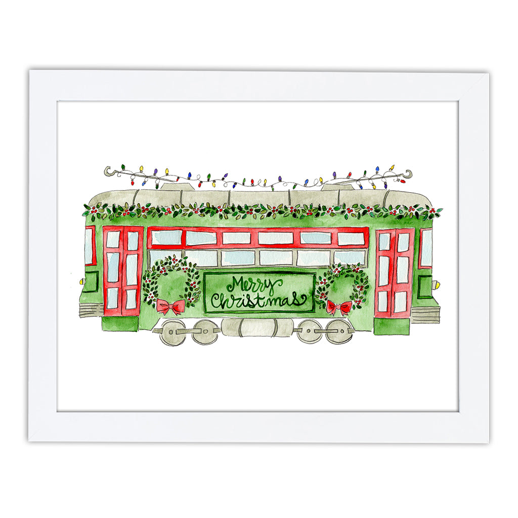 Christmas Trolley Art Print