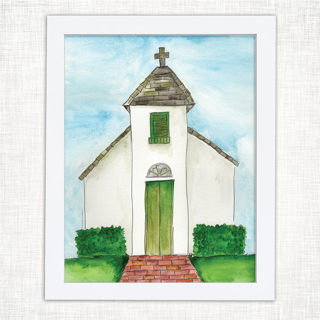 Cajun Church Art Print