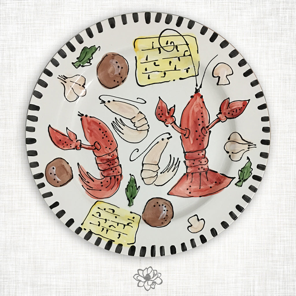 Crawfish Dinner Plate
