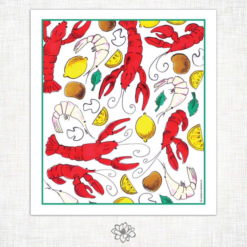 Crawfish Kitchen Towel