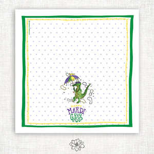 Mardi Gras Gator Kitchen Towel