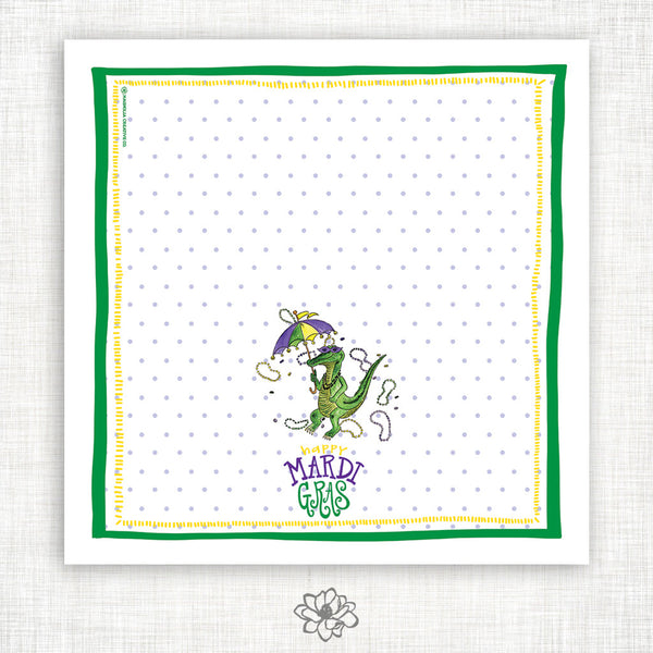 Gator Gras Kitchen Towel