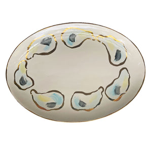Golden Oyster Oval Platter