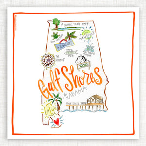Gulf Shores Kitchen Towel