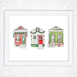 Shotgun Houses Christmas Art Print