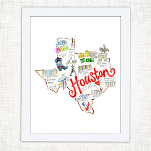 Houston Art Print