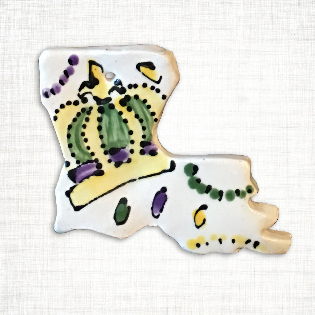 Louisiana Mardi Gras Crown Ornament