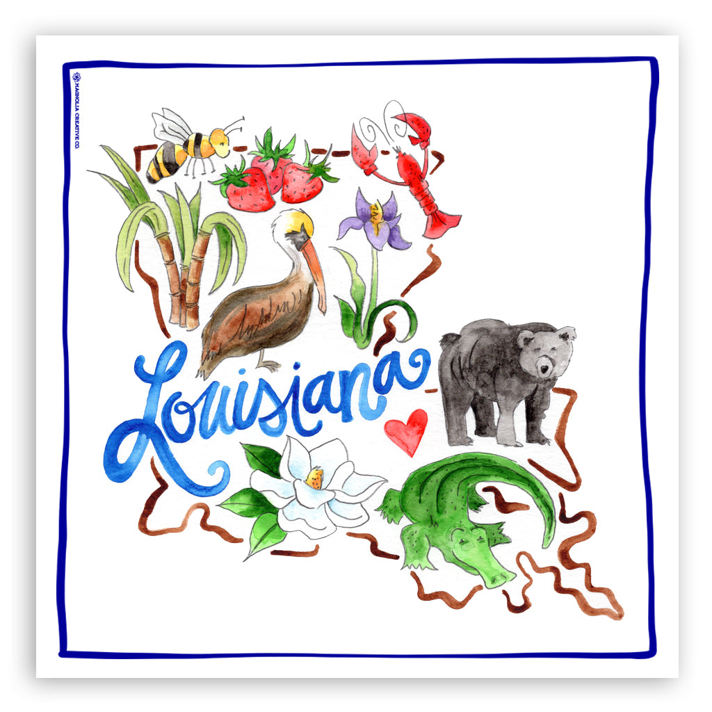 Louisiana Favorites Kitchen Towel