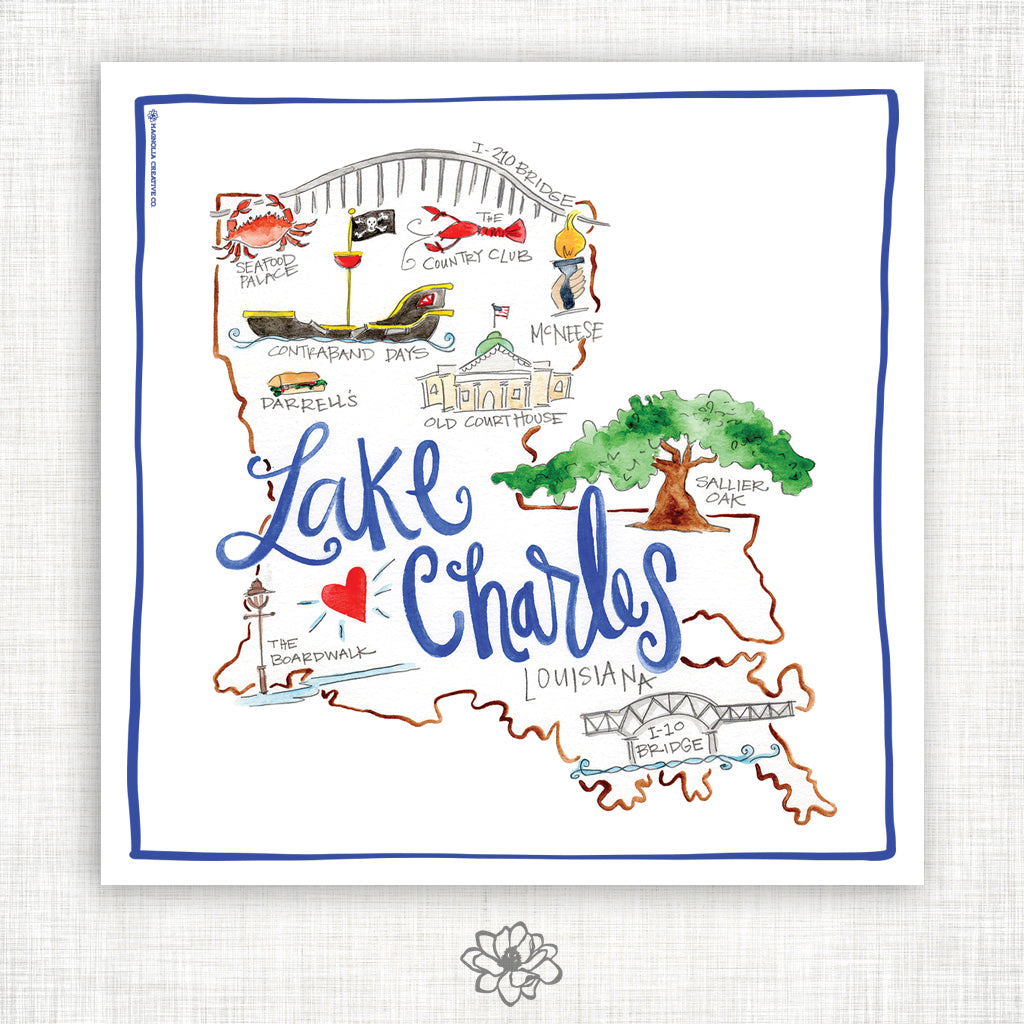 Lake Charles Kitchen Towel