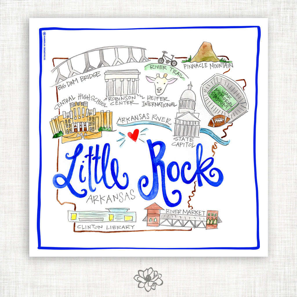 Little Rock Kitchen Towel