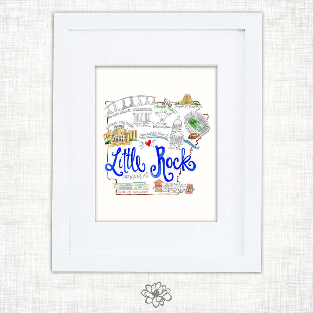 Little Rock Art Print