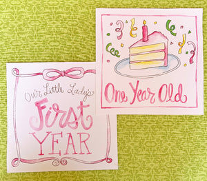 Little Lady First Year Cards