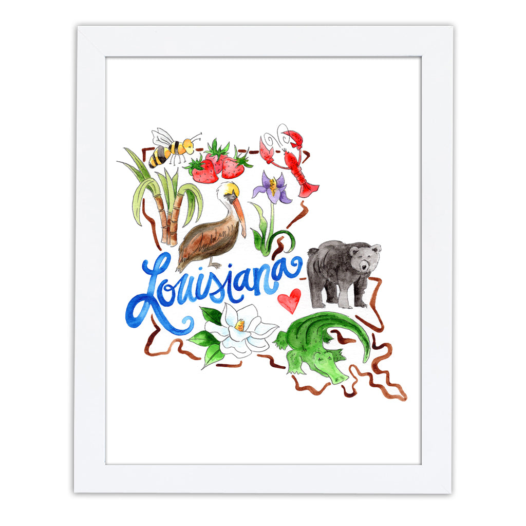 Louisiana Favorites Art Print