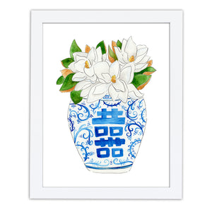 Magnolia Ginger Jar Art Print