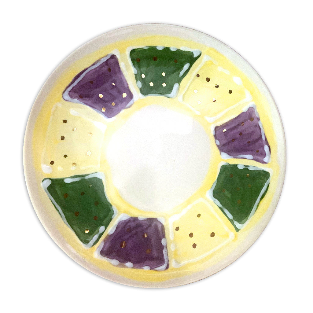 Mardi Gras King Cake Plate Set