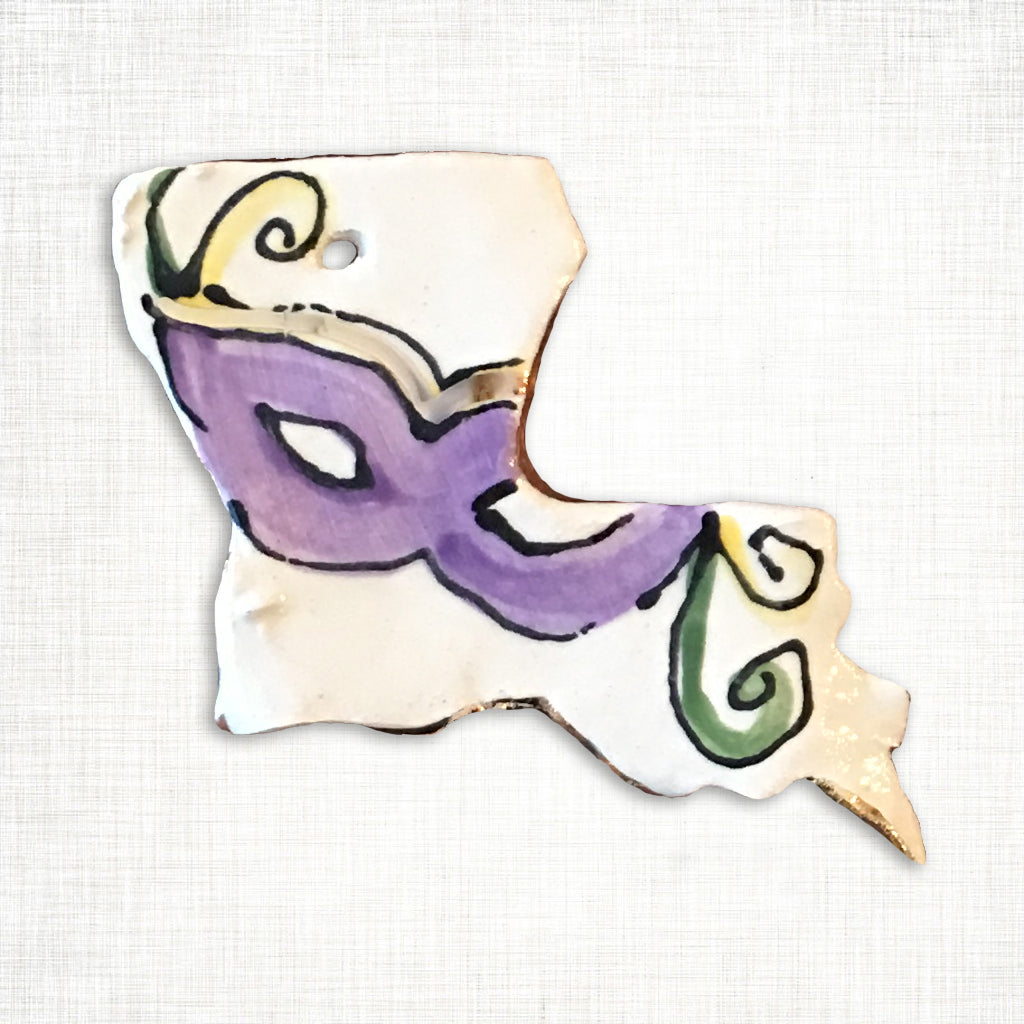 Louisiana Mardi Gras Mask Ornament