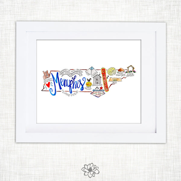 Memphis Watercolor Print