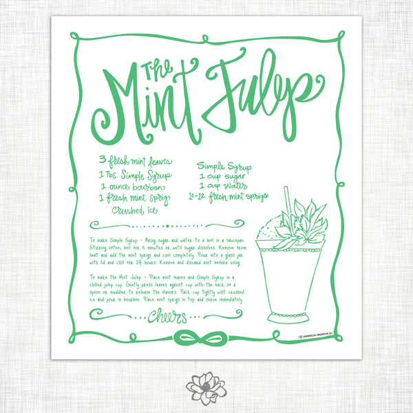 Mint Julep Kitchen Towel