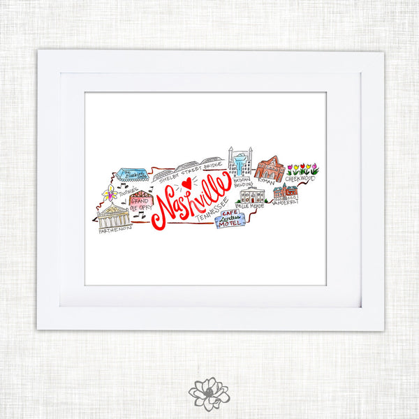 Nashville Watercolor Print