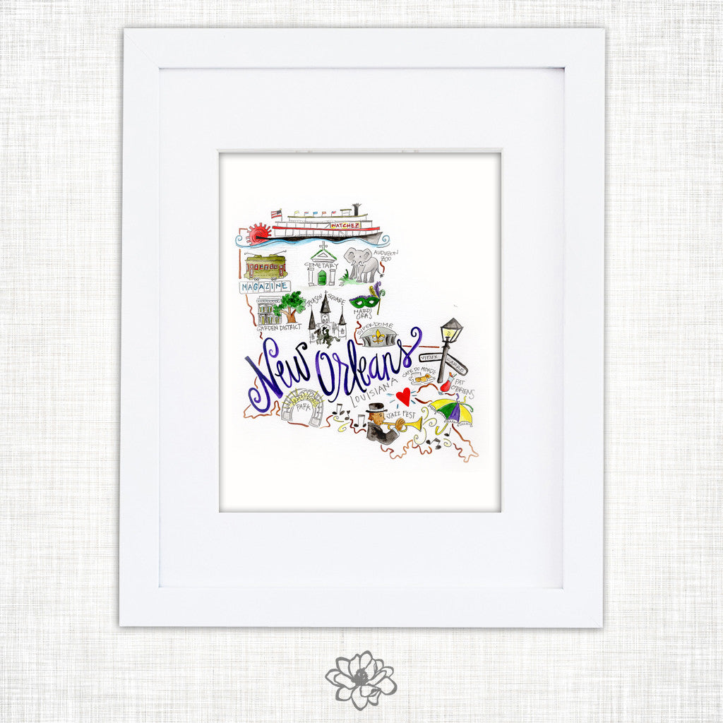 New Orleans Watercolor Print