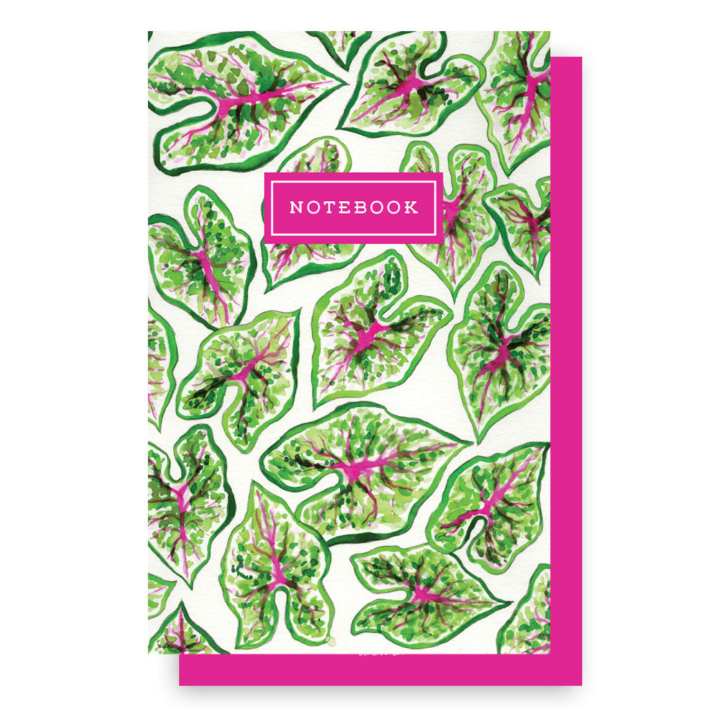 Caladium + Azalea Notebook Set