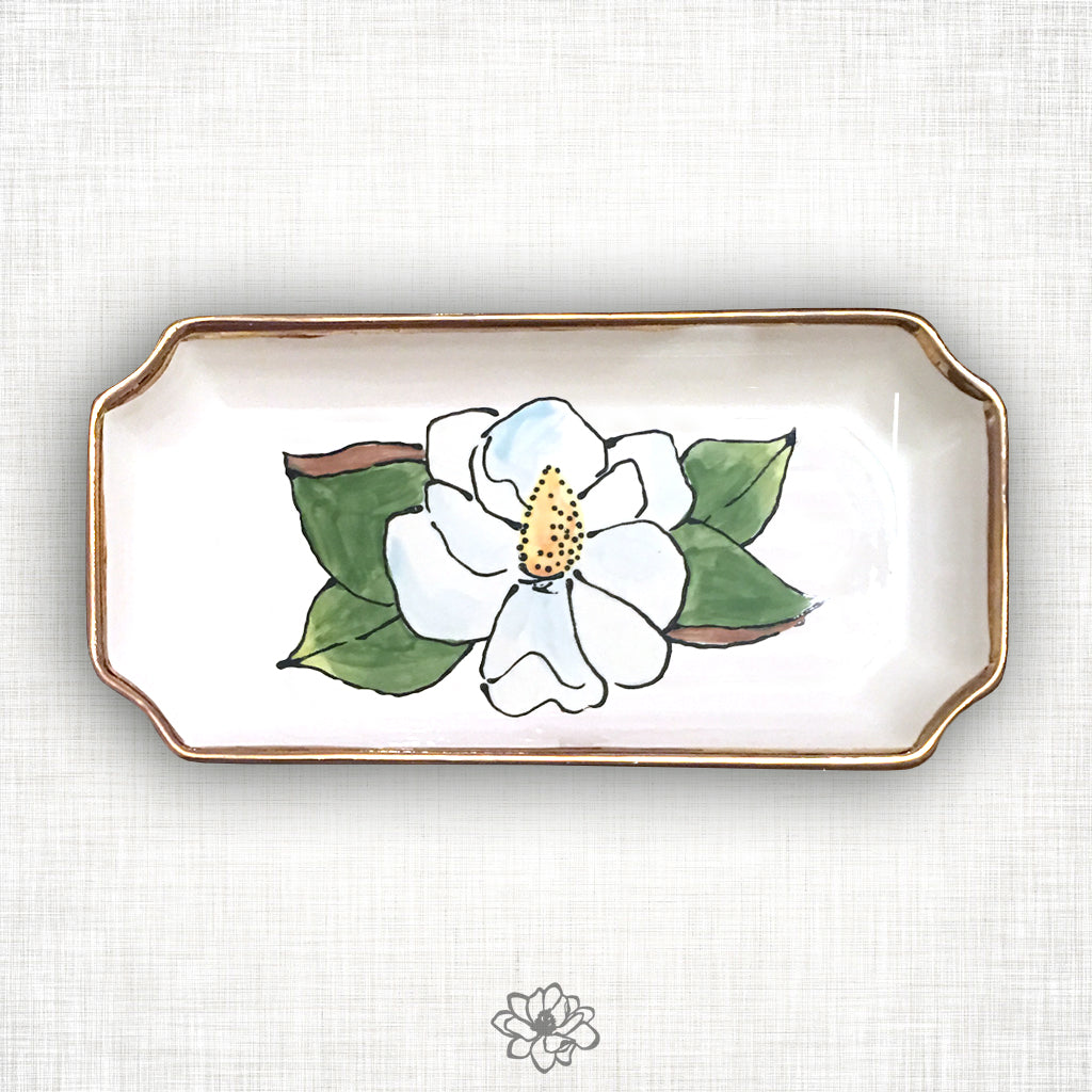 Small Magnolia Orleans Tray
