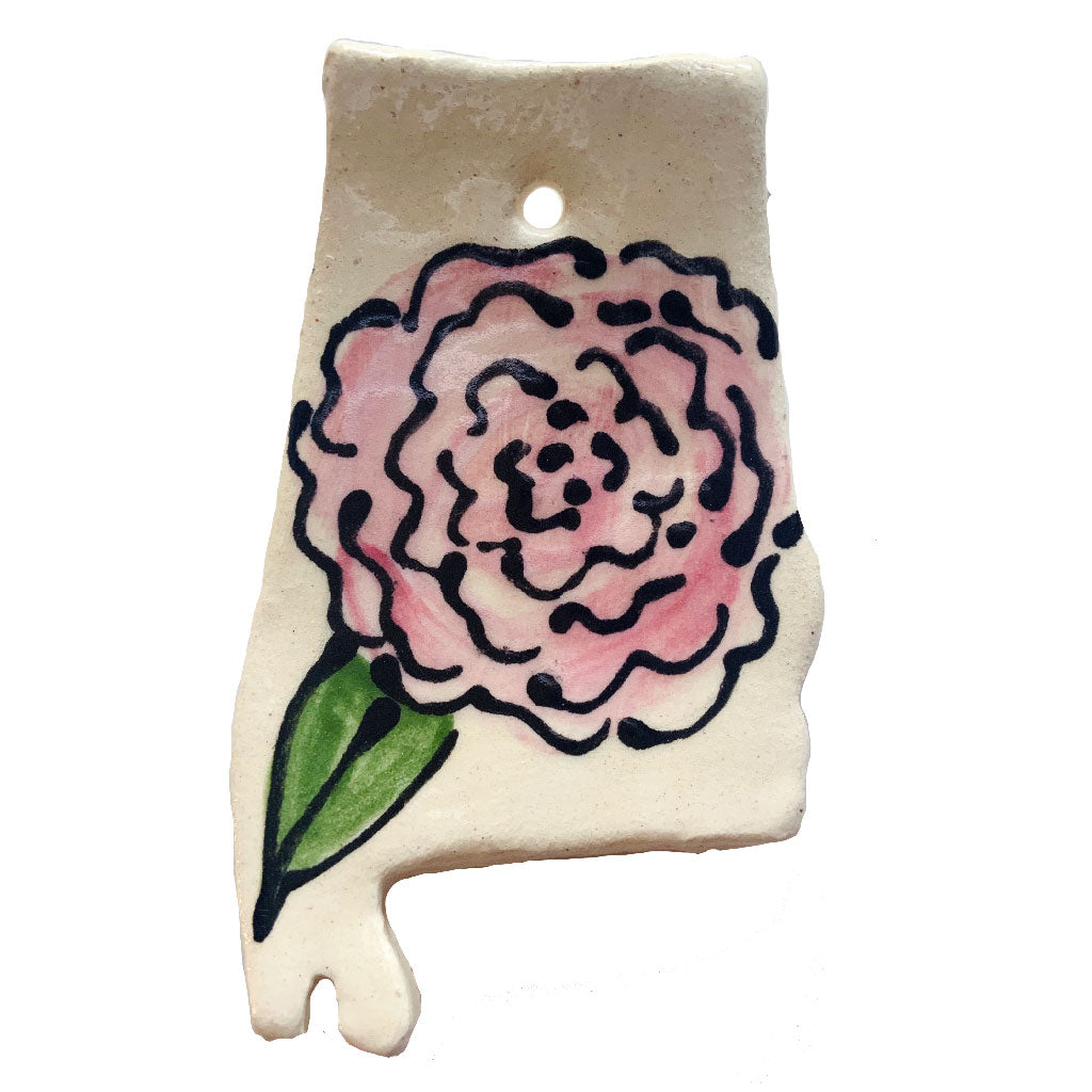 Alabama Camellia Ornament